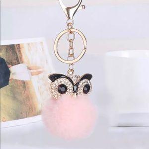 Accessories - Pink Owl Keychain